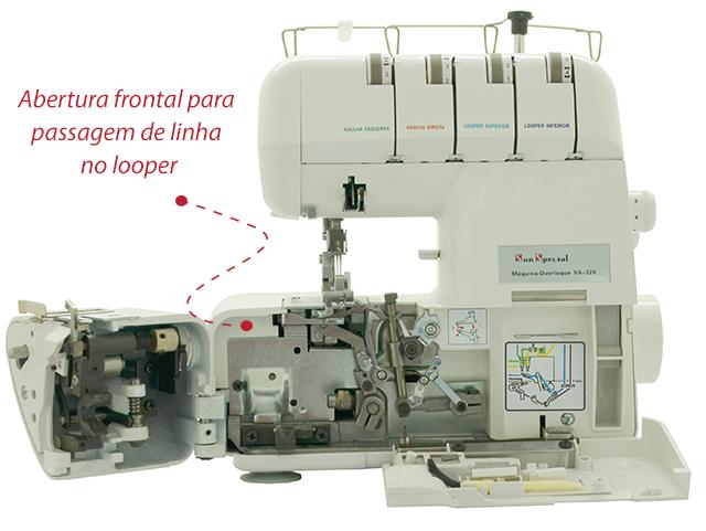 Máquina de Costura Doméstica Overloque SS-320 Sun Point